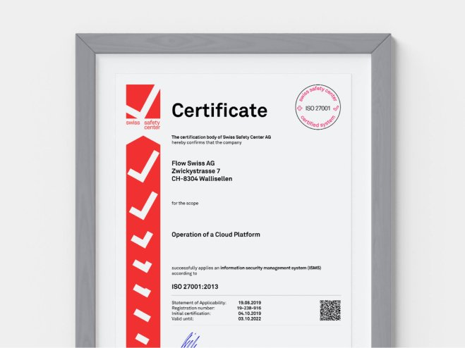 End-to-end ISO 27001 certified Cloud Platform